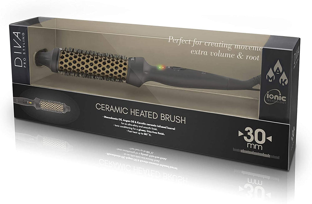Diva Pro Styling Ceramic Heated Brush 30mm