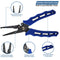 7 Stainless Steel Split Ring Fishing Pliers w/ Sheath & Lanyard - Dennet