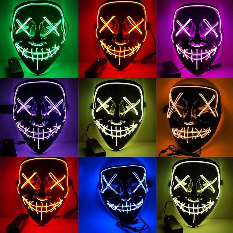 ANONYMOUS Halloween LED Light Purge Masks - Dennet