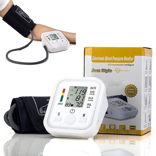 Arm Blood Pressure Monitor - Portable Accurate Home Use Digital - Dennet