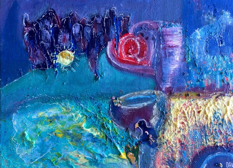 All Who Gather Acrylic Painting