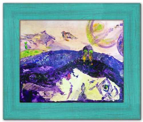 Alive Inside This Mountain Queen Maeve Knocknarae Painting County Sligo Mythical Ireland Abstract Painting Dawn Richerson