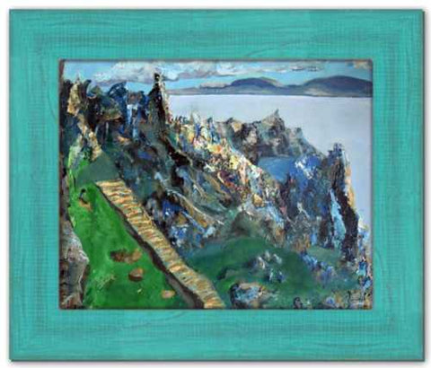 Stairway to Surrender Skellig Michael Painting Ireland Painting County Kerry Island Painting Mountain Painting