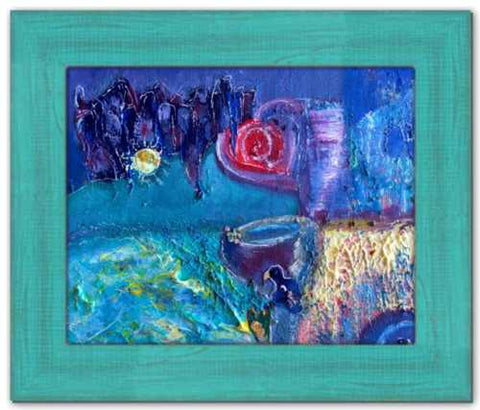 All Who Gather Soul of England Painting Stonehenge Abstract Acrylic Dawn Richerson