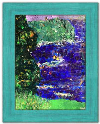 Confetti Cliffs Soul of Ireland Painting County Clare Cliffs of Moher Abstract Painting Wild Atlantic Way