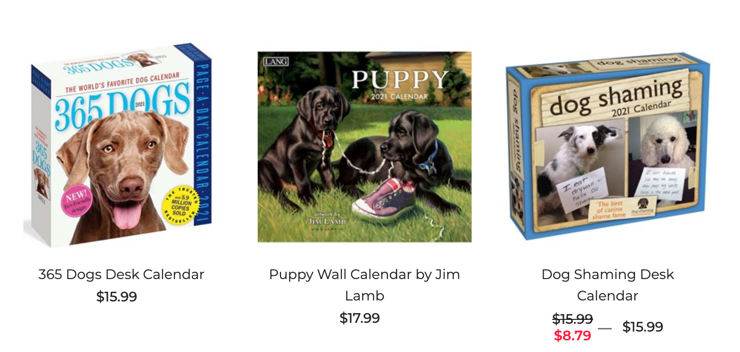 Dog Breed Calendars Gift for Dog Lovers Favorite Breed Canine Calendar