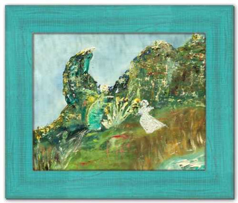 Ecstatic Soul of Ireland Painting Framed Eagle's Rock County Leitrim Painting Dawn Richerson