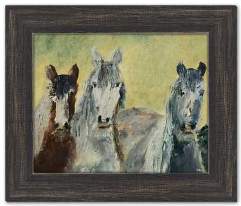 Three Amigos Horse Painting Soul of Ireland Irish Horses Dawn Richerson Art Oil Painting
