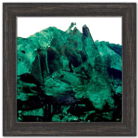 All the Green Mountains Magdalen Painting Dawn Richerson Abstract Mountain Painting Green