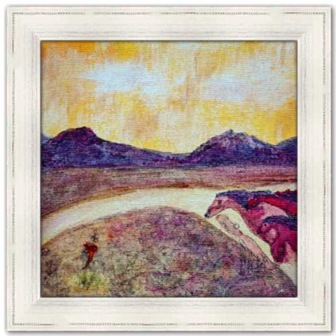 Vision of the Three Horses • At Sunset We Ride Painting