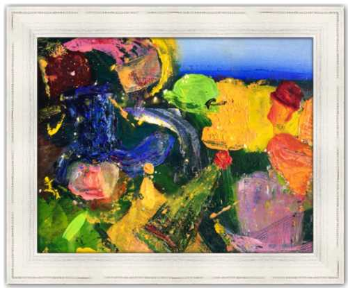 Hat Party Spirited Life Painting Dawn Richerson Art Colorful Abstract Painting