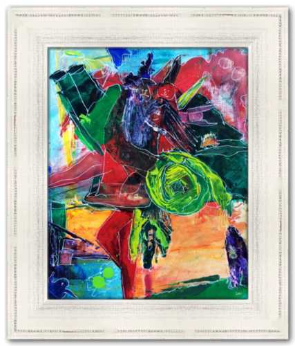 Multiplicity Morphing into Meaning Spirited Life Painting Dawn Richerson Art Abstract Colorful