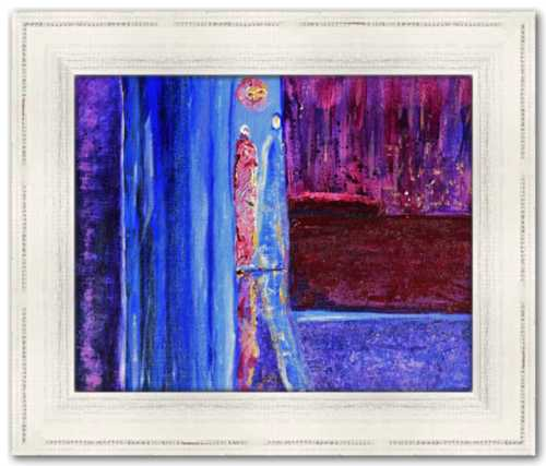 Residue Spirited Life Painting Dawn Richerson Art Prints Abstract Painting Purple