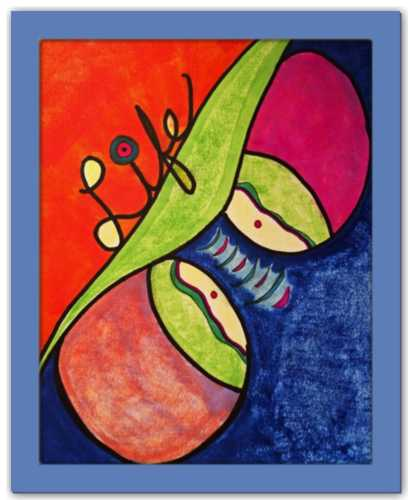 Two Peas in a Pod Sacred Partner SEA Doodle Series Dawn Richerson Art Print