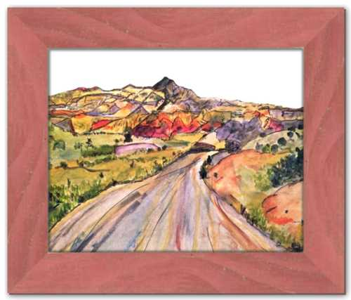 We, Asleep in the Mountain [Leaving Ghost Ranch] ☼ Soul of America New Mexico Painting {Art Print}