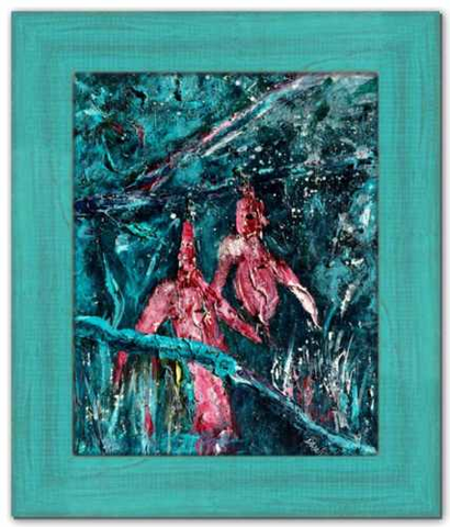 Spring's Chilly Reception Soul of Ireland Painting Fuschia Flower