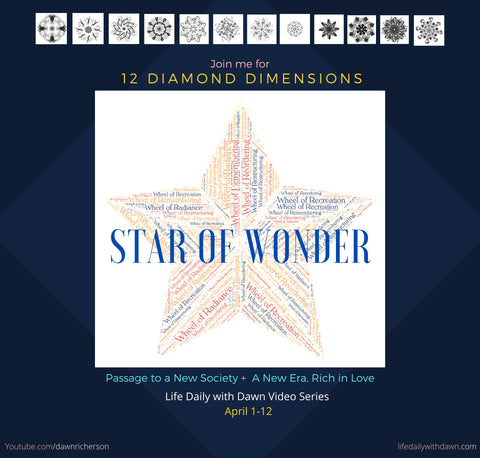 Star of Wonder 12 Diamond Dimensions Collective Transformation Passage to a New Society 2020 2021 2022 2023 2024 2025 2026