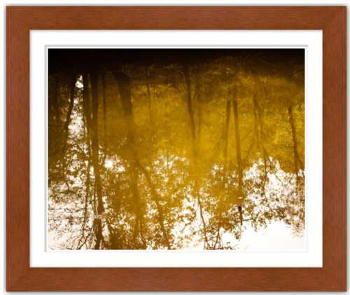 Nostalgic and All That Fades in Time Golden Autumn Lake Reflection Soul of Nature {Photo Print}