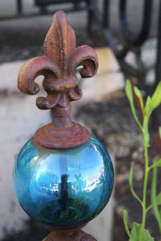 Blue Globe Fleur d' Lis New Orleans Dawn Richerson Photography