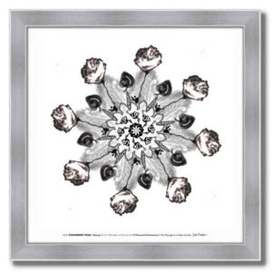 #12 Strawberry Rose ☼ Diamond Dimensions SEA Series {Art Print} Design Print New Dawn Studios 10x10 Framed