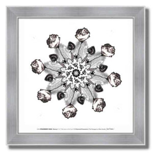 #12 Strawberry Rose ☼ Diamond Dimensions SEA Series {Art Print} Design Print New Dawn Studios 8x8 Framed