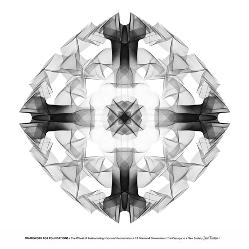 #2 Framework for Foundations ☼ Diamond Dimensions SEA Series {Art Print} Design Print New Dawn Studios 8x8 Unframed