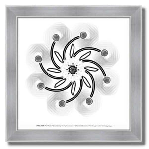 #3 Spiral Star ☼ Diamond Dimensions SEA Series {Art Print} Design Print New Dawn Studios 8x8 Framed