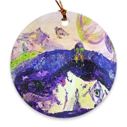 Alive Inside This Mountain Porcelain Ornament Ornament Dawn Richerson