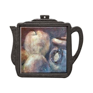 Apples & Iron-Ringed Pot Teapot Trivet Trivet New Dawn Studios