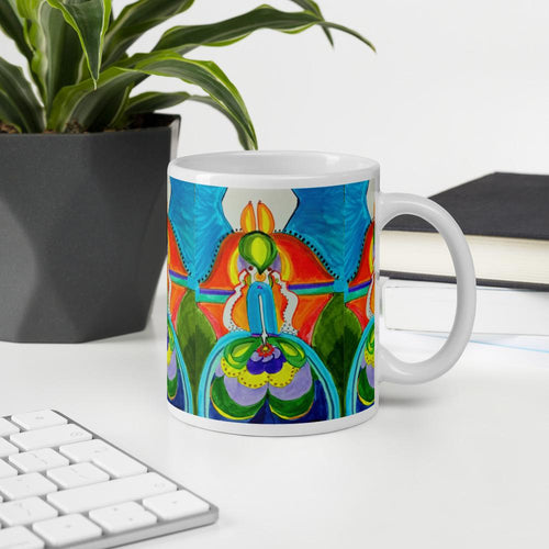 Bright Idea Man in Moon Boots ☼ Sacred Partners SEA Series Mug Mugs Dawn Richerson