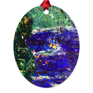 Confetti Cliffs ☼ Soul of Ireland Metal Ornament Ornament New Dawn Studios Double Sided Oval