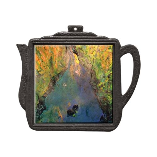 In Her River Soul of France Teapot Trivet Trivet New Dawn Studios