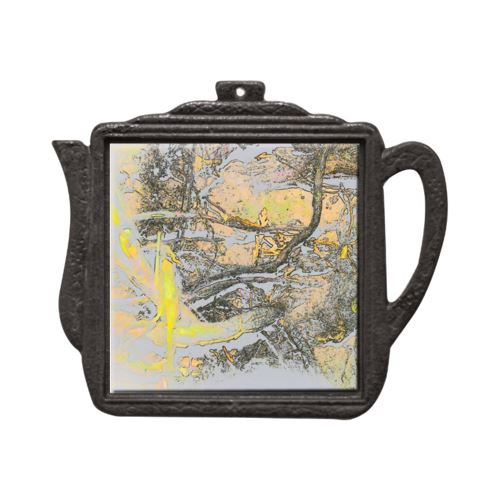 Inside the Fairy Kingdom Teapot Trivet Trivet New Dawn Studios