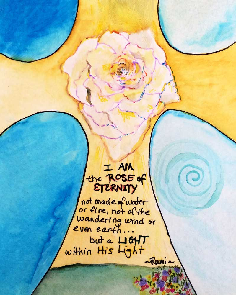 Rose of Eternity ☼ Rumi Poem {Poem Print} Poem Print New Dawn Studios