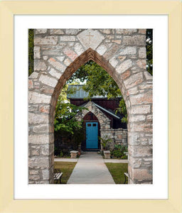 The Blue Door ☼ Soul of Place • Salado, Texas {Photo Print} Photo Print New Dawn Studios 8x10 Framed