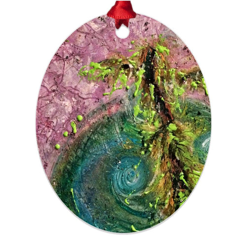 The Calm Within Your Storm ☼ Soul of Ireland Metal Ornament Ornament New Dawn Studios