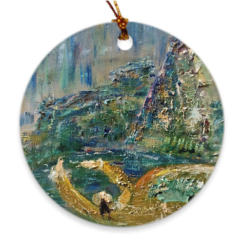 This Memory Alive Inside of Me Soul of Ireland Porcelain Ornament Ornament Dawn Richerson