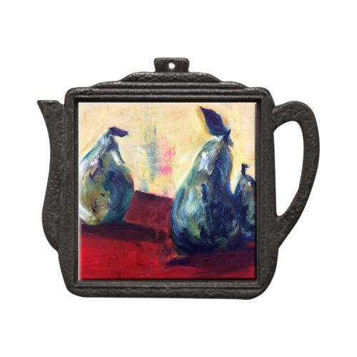 Three Pears and the Truth Teapot Trivet Trivet New Dawn Studios
