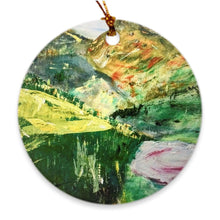 Load image into Gallery viewer, Valley of Rest Soul of Ireland Porcelain Ornament Ornament Dawn Richerson Round Double Sided - Full Bleed