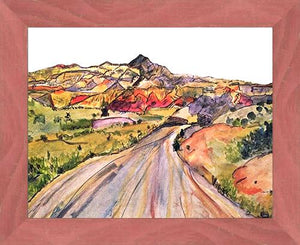 We, Asleep in the Mountain [Leaving Ghost Ranch] ☼ Soul of America New Mexico Painting {Art Print} Art Print New Dawn Studios 11x14 Framed
