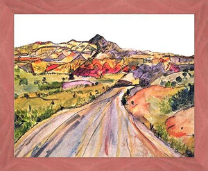 We, Asleep in the Mountain [Leaving Ghost Ranch] ☼ Soul of America New Mexico Painting {Art Print} Art Print New Dawn Studios 16x20 Framed