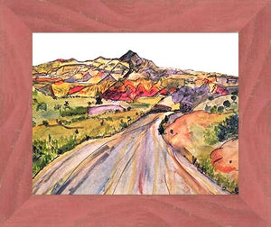 We, Asleep in the Mountain [Leaving Ghost Ranch] ☼ Soul of America New Mexico Painting {Art Print} Art Print New Dawn Studios 8x10 Framed