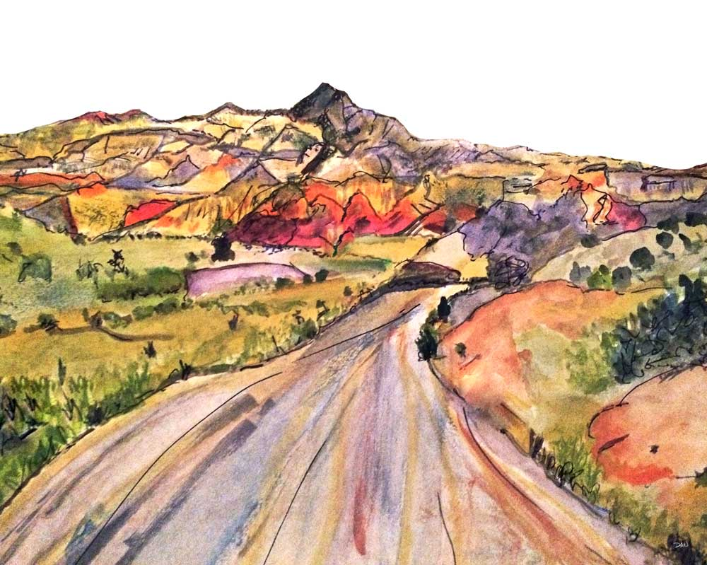 We, Asleep in the Mountain [Leaving Ghost Ranch] ☼ Soul of America New Mexico Painting {Art Print} Art Print New Dawn Studios 8x10 Unframed