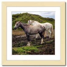 Load image into Gallery viewer, Working Together ☼ Soul of Ireland Horses {Photo Print} Photo Print New Dawn Studios 8x8 Framed