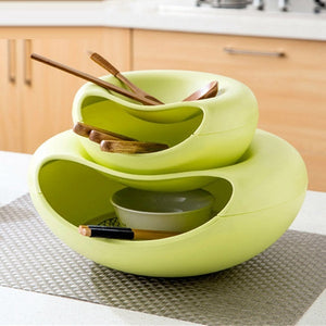 Multi-function Snack Bowl With Phone Holder