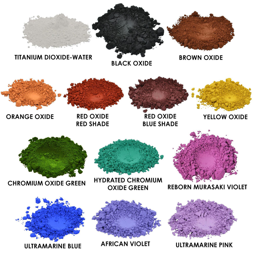 13 Cosmetic Pigments Sampler
