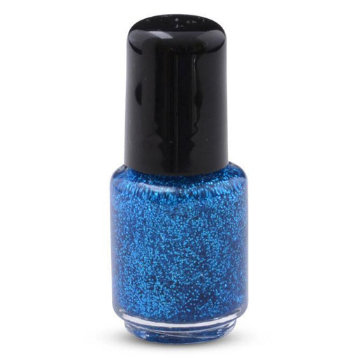 Focus Blue Glitter in Nail Polish