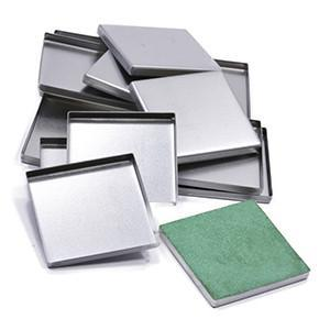 Large Square 38mm x 38mm Tin Pans