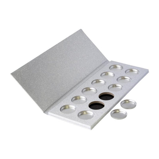 26mm Glittery Silver Palette KIT, 12 Cavity, (Includes Tins & Press Tiles)