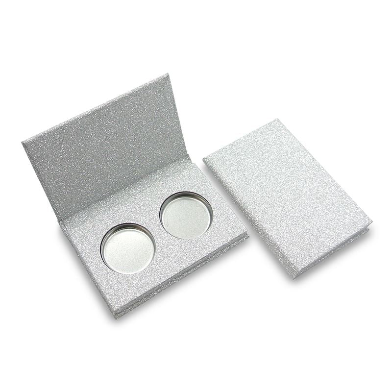 26mm Glittery Silver 2 Cavity (Includes Tins & Press Tiles)